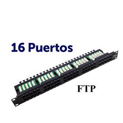 "Panel Parcheo CROMAD 16P Krone 19"" FTP CAT 6 - CR0774"