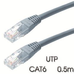Cable Cromad de red UTP CAT 6 0.5M Gris Claro - CR0740