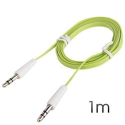 Cable Cromad Mini Jack 3.5 M/M 1M PLANO Verde - CR0372