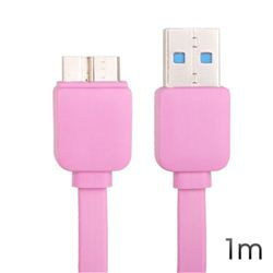 Cable Cromad USB 3.0 Plano Rosa 1M - CR0393
